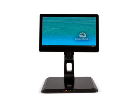 c130T commercial tablet on included stand facing front