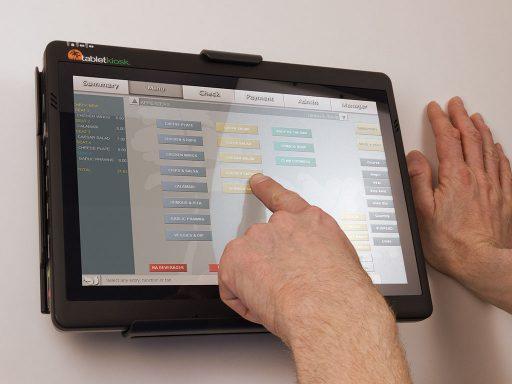 Sahara Slate PC in use in flush wal mount