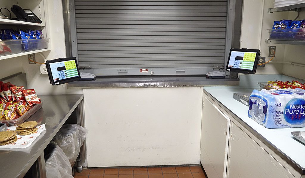 Tablet POS Terminals mounted to wall