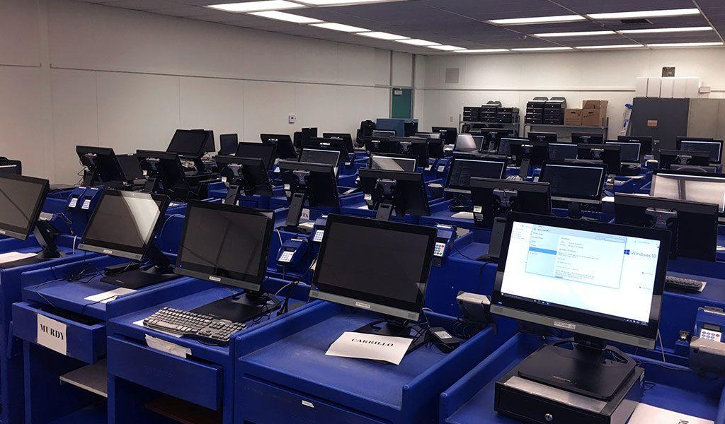 POS terminals storage room