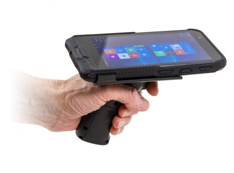Data Collection Handle (Pistol Grip) in hand