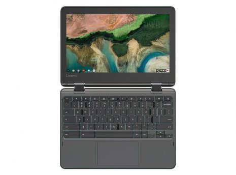 Lenovo 300e Chromebook (Gen 2) open (flat)