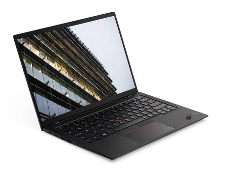 Lenovo ThinkPad X1 Carbon G9 front to right (open)