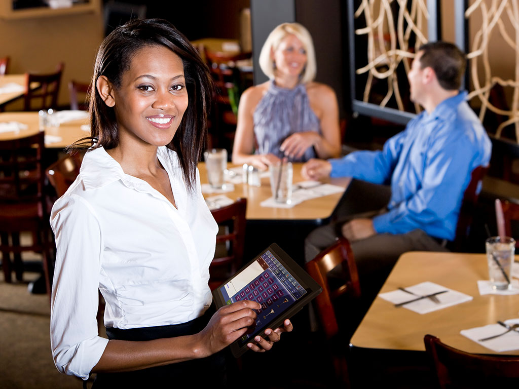 Servers can interact directly with the CMS or POS system at tableside to improve efficiency and the customer experience.