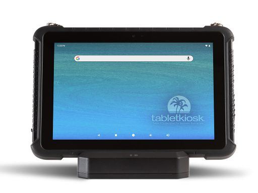 Ares TufTab a10XTC rugged tablet on dock (front)