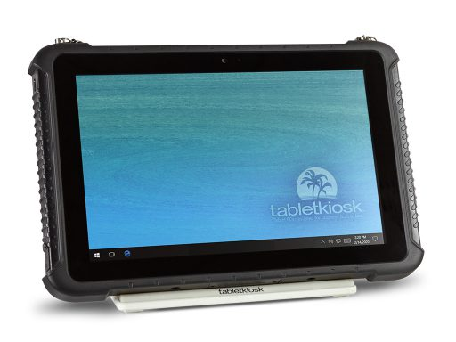Ares TufTab i10XTC rugged tablet on simple stand