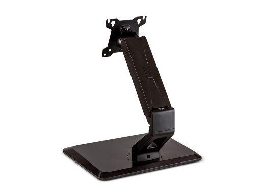 Touchscreen pedestal stand back facing